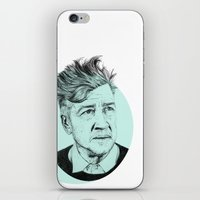 lynch iPhone & iPod Skins featuring David Lynch by Ruth Hannah