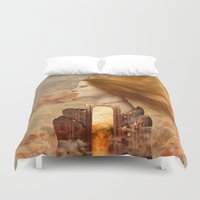fez Duvet Covers featuring Persephone by Diogo Verissimo