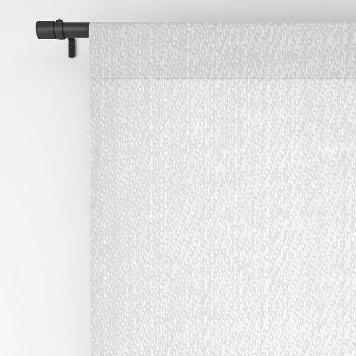 Rabbit Tail - Black & White Blackout Curtain