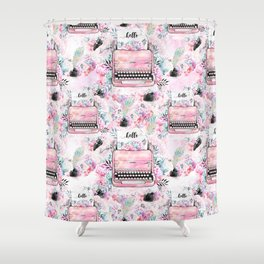 Typewriter #9 Shower Curtain