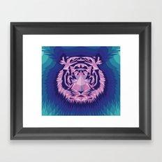 Purple Tiger Framed Art Print