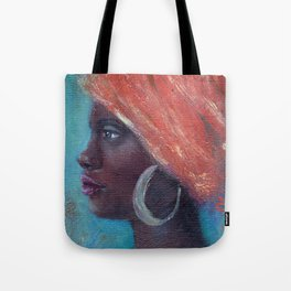 Noble Strength African Woman Tote Bag