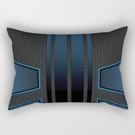 Carbon Tech Blue Abstract Rectangular Pillow