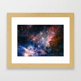 Carina Nebula's Hidden Secrets Framed Art Print
