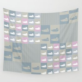 Ducks In A Row Wall Tapestry