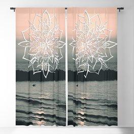 Twilight Mandala Ocean Bliss Dream #1 #sunset #decor #art #society6 Blackout Curtain