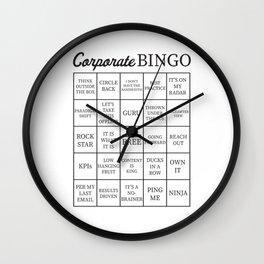 Corporate Jargon Buzzword Bingo Card Wall Clock