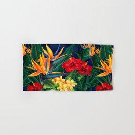 Tropical Paradise Hawaiian Floral Illustration Hand & Bath Towel