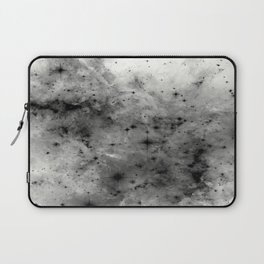 Space Without Colour - Black And White Painting Laptop Sleeve