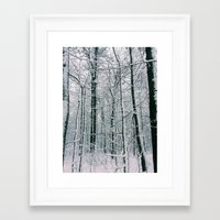blankets Framed Art Prints featuring Blankets of Snow by Warren Silveira + Stay Rustic