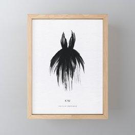Little Black Gown Framed Mini Art Print