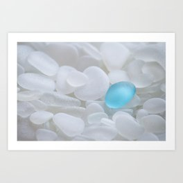 Turquoise Sea Glass Art Print
