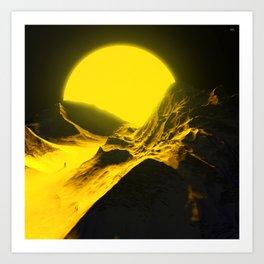 Walking to the sun. Art Print