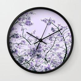 Spring Lavender Flowers Wall Clock