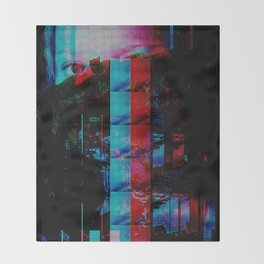 Face of a thousand Voices Throw Blanket