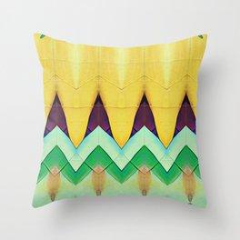 Yellow Vibe Throw Pillow
