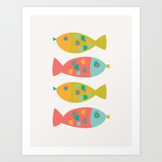 Four Fish Art Print