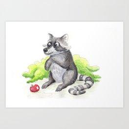 The Hungry Raccoon Art Print