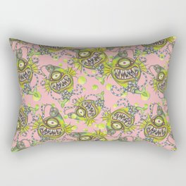 Slick Fish with Bubbles - Girly Pink Rectangular Pillow
