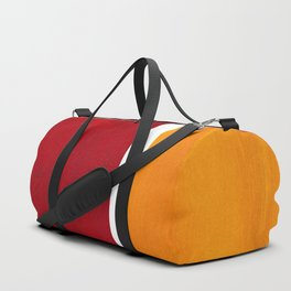 Burnt Red Yellow Ochre Mid Century Modern Abstract Minimalist Rothko Color Field Squares Duffle Bag