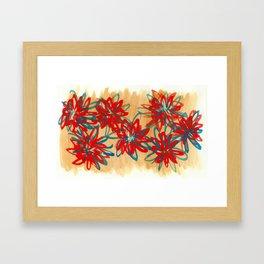 Painted Flowers Framed Art Print