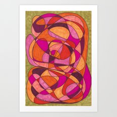 Pinks Art Print