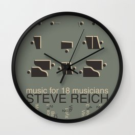 Music for 18 musicians Wall Clock