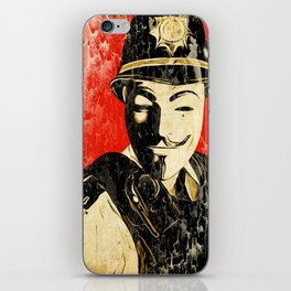 Anonymous Police Officer iPhone Skin