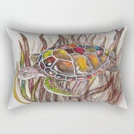 Tripping turtle Rectangular Pillow