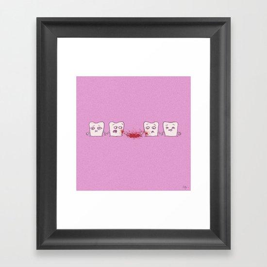 Red Rover, Game Over Framed Art Print