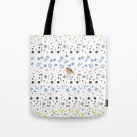 robin Tote Bags featuring Robin by Ornaart