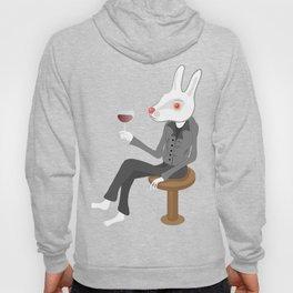 White Bunny Thinking Hoody