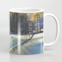 montreal Mugs featuring Montreal Night by ASHe Levesque