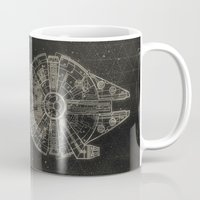 millenium falcon Mugs featuring Millennium Falcon by LindseyCowley