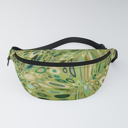 SOYLENT textured abstract in shades of green - lime to emerald Fanny Pack