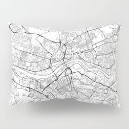 Newcastle Upon Tyne Map White Pillow Sham