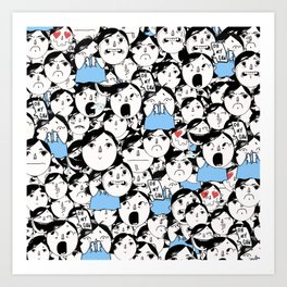 Bobbies Unite Art Print