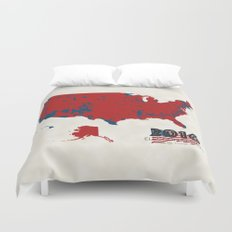 2016 Election Results Duvet Cover