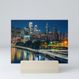 The Philadelphia skyline Mini Art Print