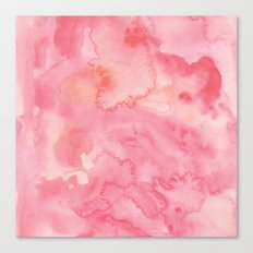 Watercolor Pink Canvas Print