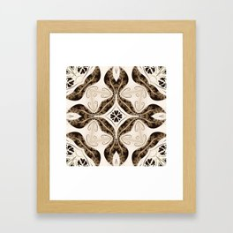 Kaleidoscope Autumn Breeze Floral Print Framed Art Print