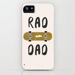 Rad Dad iPhone Case