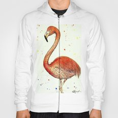 Colourful Flamingo  Hoody