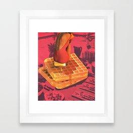 WAFFLE Framed Art Print