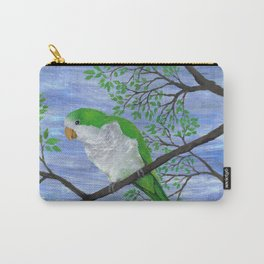 A painting of a quaker parrot Carry-All Pouch