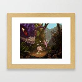 Land Angler Framed Art Print