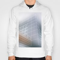 architect Hoodies featuring Minimalist architect drawing by Solar Designs
