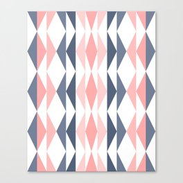 Triangle Pattern in Blush and Slate Canvas Print