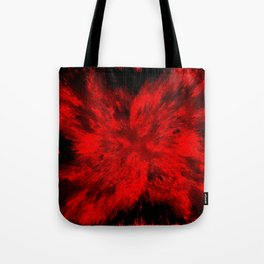 Fire Behind Glass (Red series #11) Tote Bag