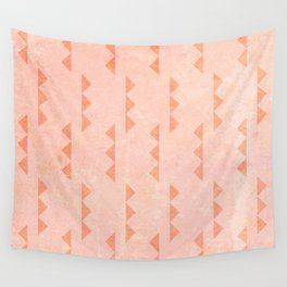 Triangles - Coral Wall Tapestry